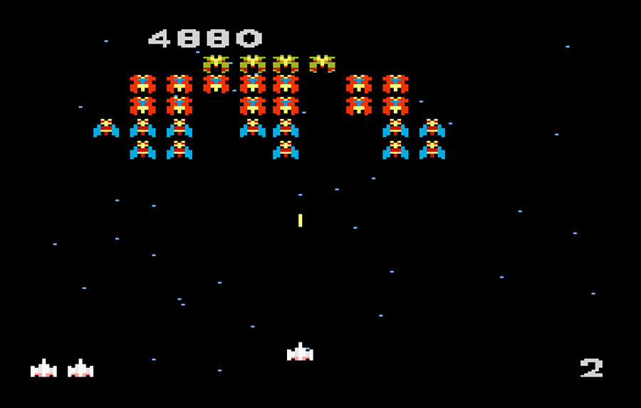 Atari Galaga for Atari 7800 screenshot Classic Retro Gaming Video Game Review