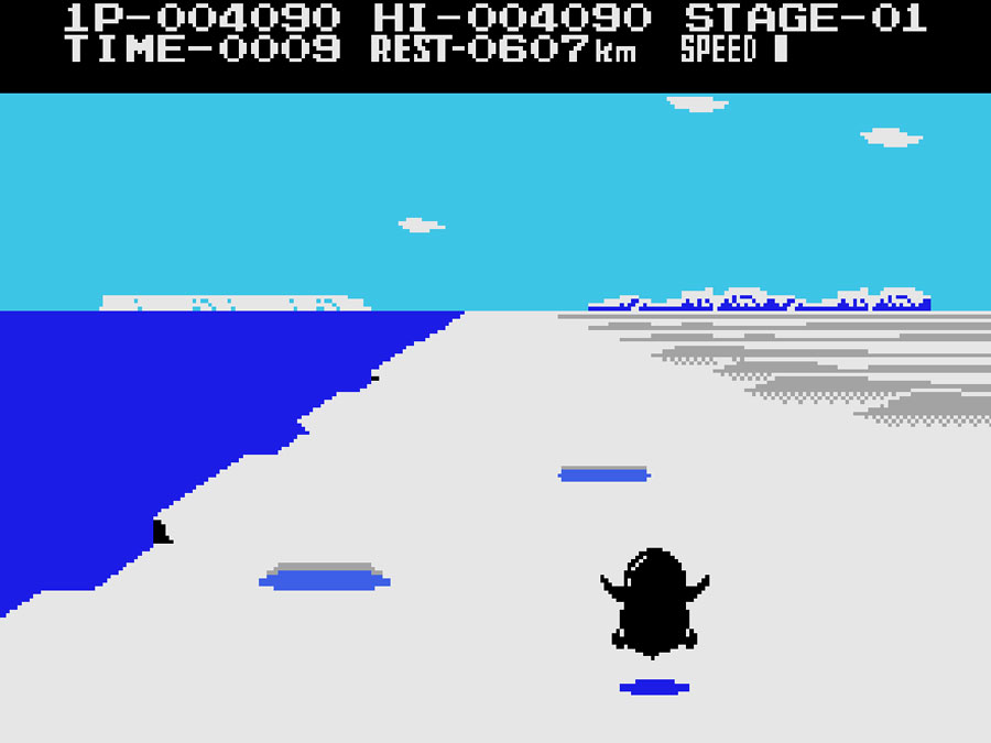 Konami's Antarctic Adventure for Colecovision screenshot Classic Retro Gaming Video Game Review
