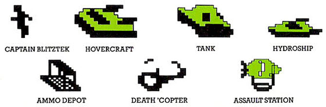 Interphase's Aquattack for Colecovision sprites