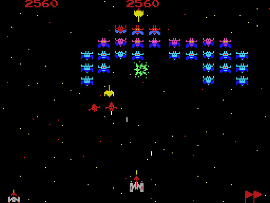 Atarisoft Galaxian for Colecovision screenshot Classic Retro Gaming Video Game Review