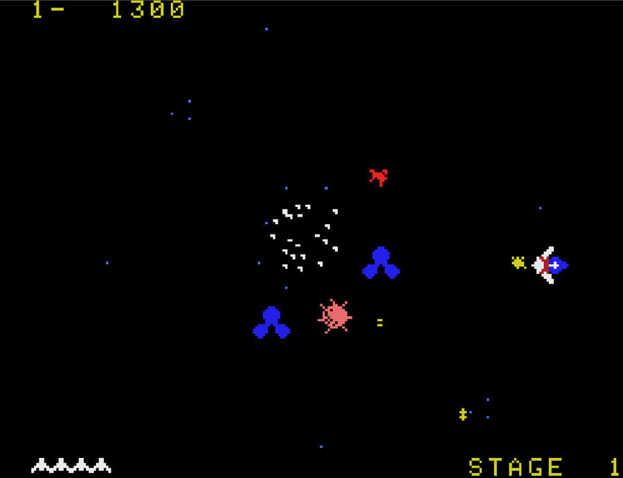 Parker Brothers' Gyruss for Colecovision screenshot Classic Retro Gaming Video Game Review