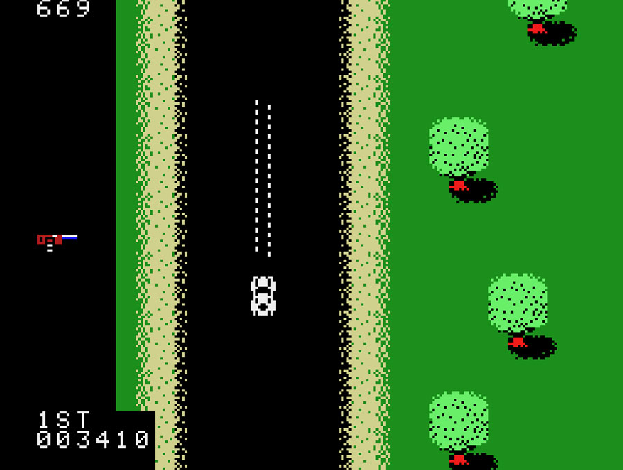 Spy Hunter for Colecovision screenshot Classic Retro Gaming Video Game Review