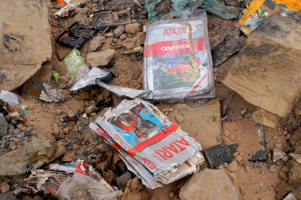 Atari games recovered from the landfill