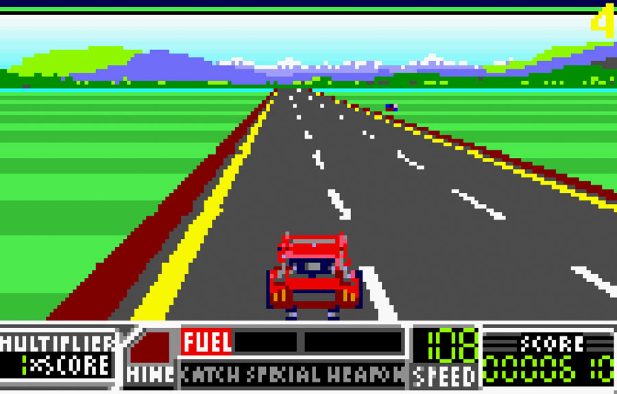 Atari's RoadBlasters for Atari Lynx screenshot Classic Retro Gaming Video Game Review