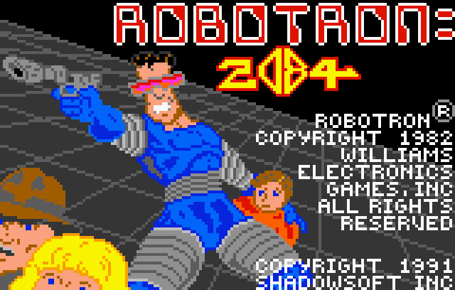 Williams Robotron 2084 for Atari Lynx screenshot Classic Retro Gaming Video Game Review
