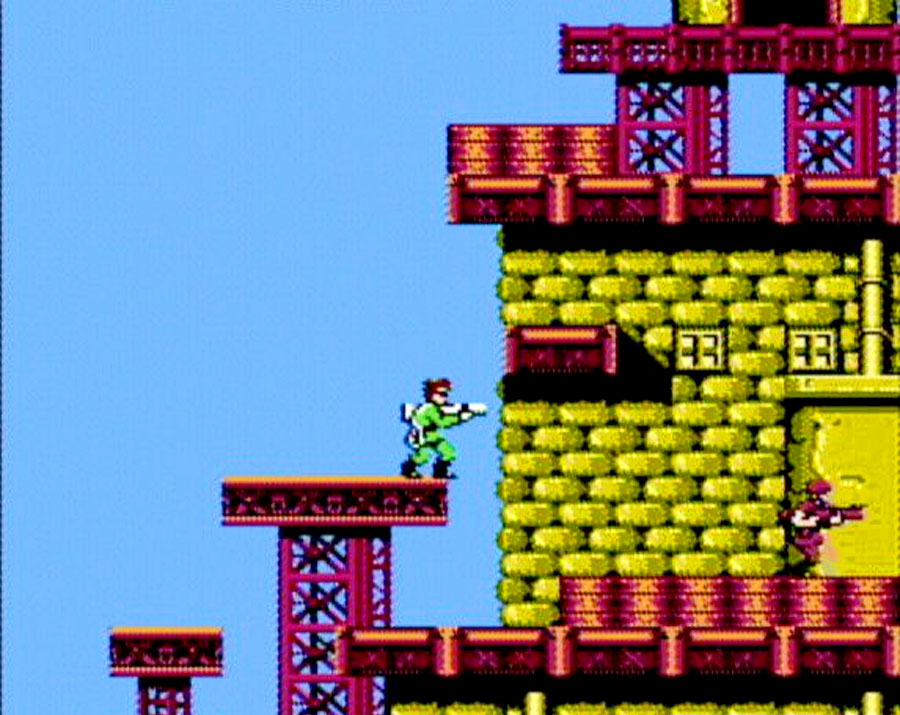 Capcom Bionic Commando for Nintendo NES screenshot Classic Retro Gaming Video Game Review