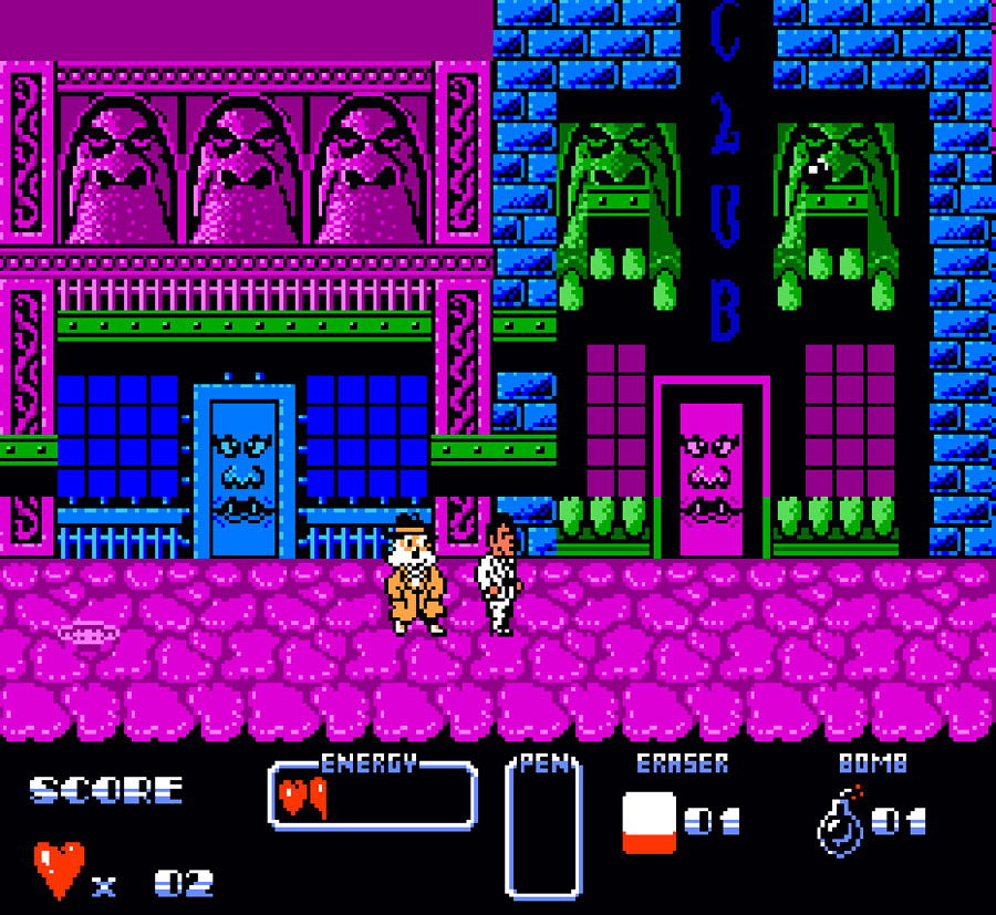 Ocean's Cool World for Nintendo NES screenshot Classic Retro Gaming Video Game Review