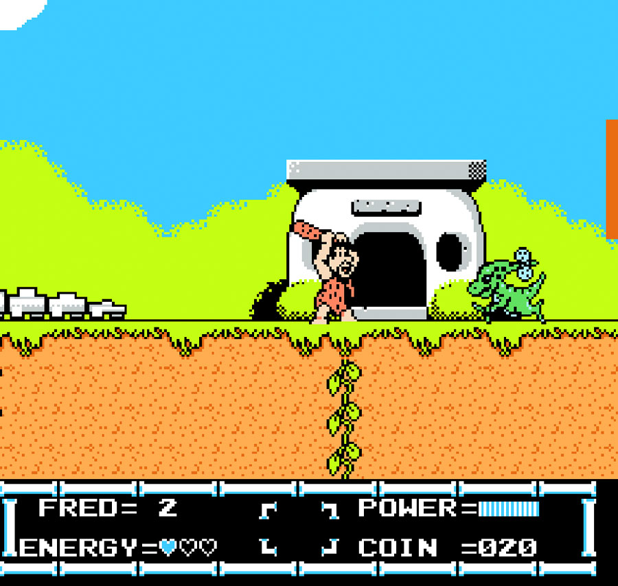 Taito's Flintstones: The Rescue of Dino & Hoppy for Nintendo NES screenshot Classic Retro Gaming Video Game Review