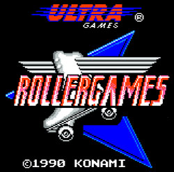 RollerGames logo Nintendo NES console Classic Retro Gaming Video Game Review