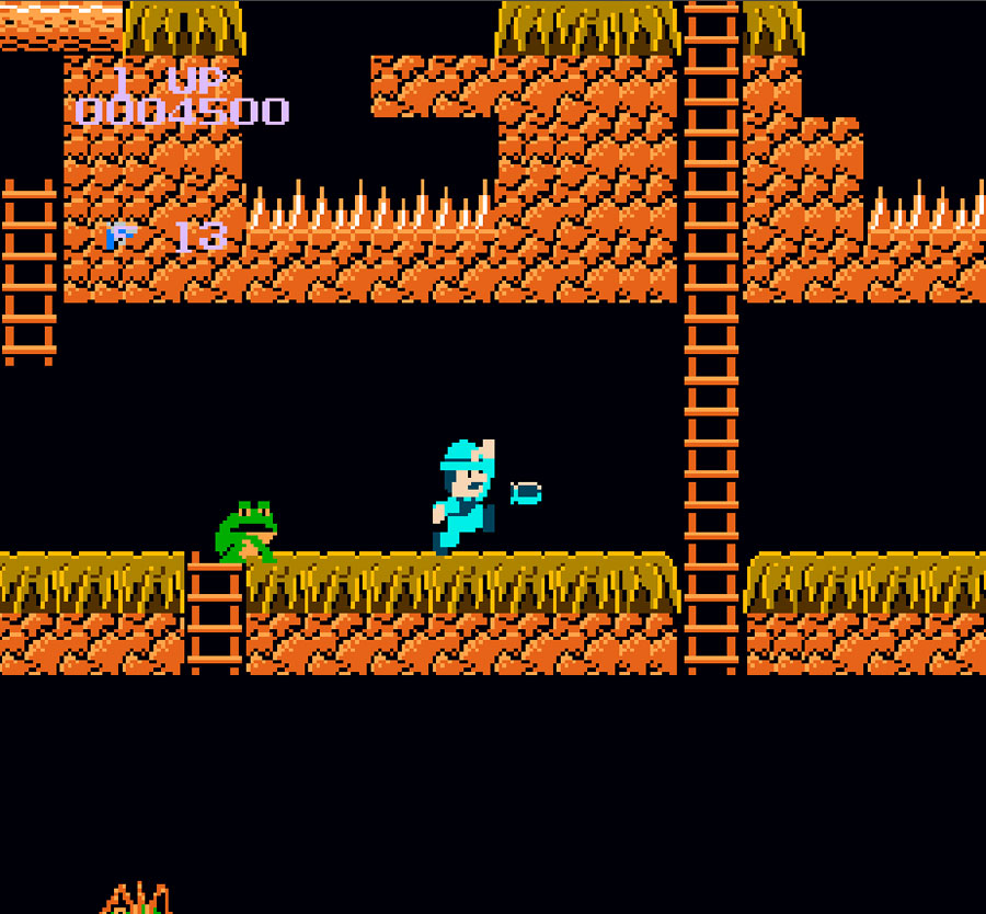 Activision's Super Pitfall for Nintendo NES screenshot Classic Retro Gaming Video Game Review