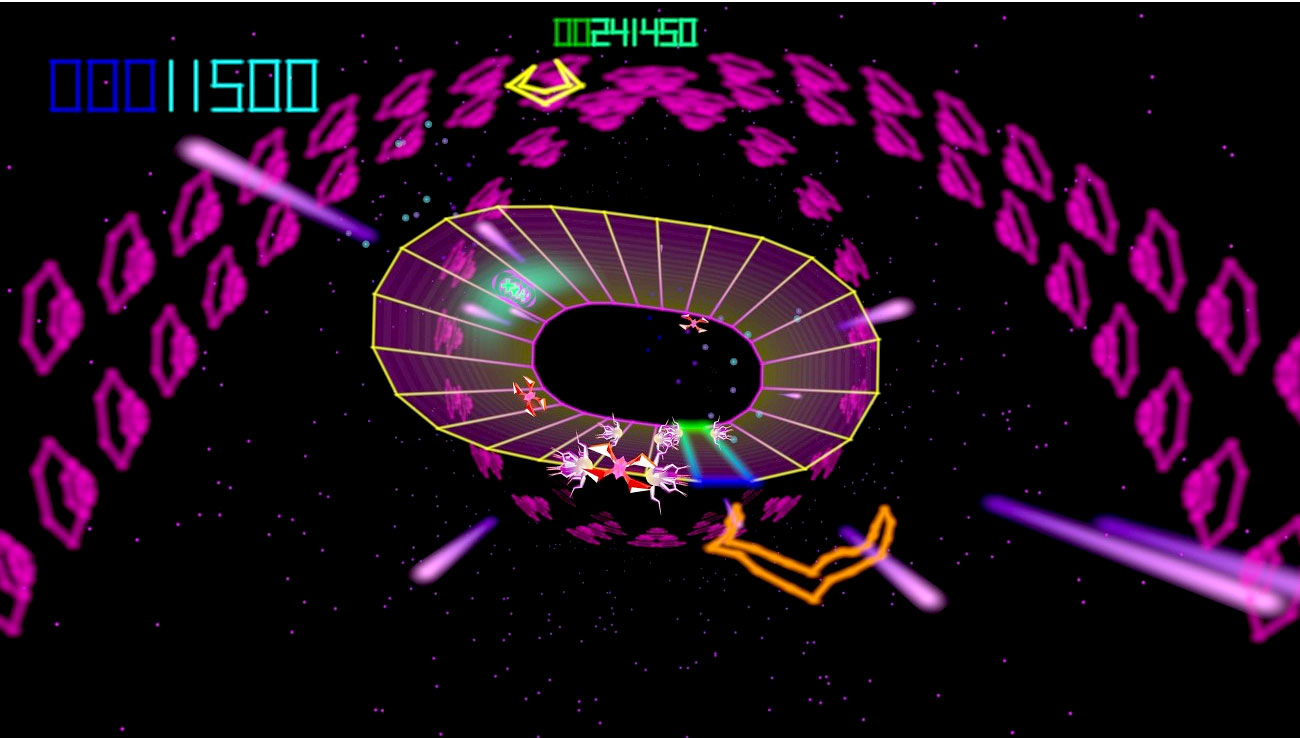 Atari's Tempest 4000 for Sony PS4 screenshot Classic Retro Gaming Video Game Review