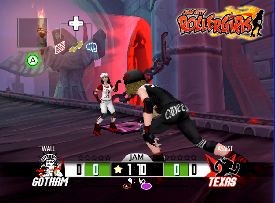 Frozen Codebase Jam City Rollergirls for WiiWare screenshot Classic Retro Gaming Video Game Review