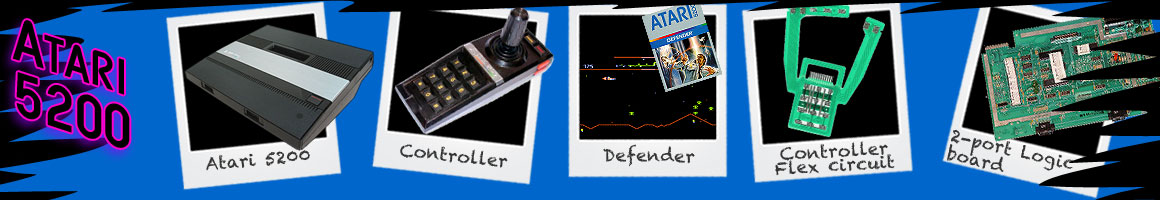 Retro Classic Video Games Atari 5200
