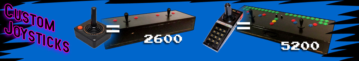 Robust Arcade Joysticks for Atari 2600, 5200, 7800, 800 and Colecovision