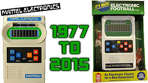 Reproductions of Mattel Electronic Football & Basketball handheld games appeared at my local Toys R Us