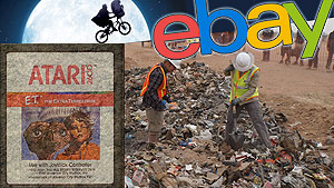 E.T. carts from the first Atari Landfill auction on eBay surpassed $1,500 for a single game