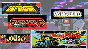 A few of my arcade game marquees I recently found